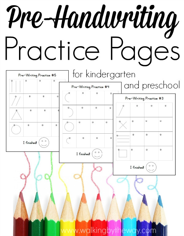 Pre Writing Strokes Worksheets Pre Writing Pages for Preschool and Kindergarten Walking