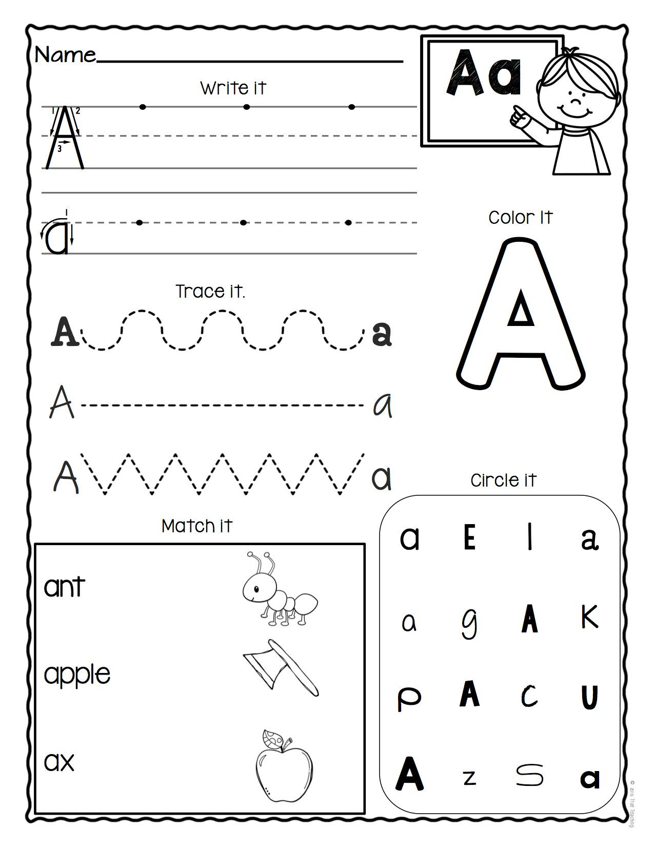 Preschool Alphabet Worksheets Az A Z Letter Worksheets Set 3