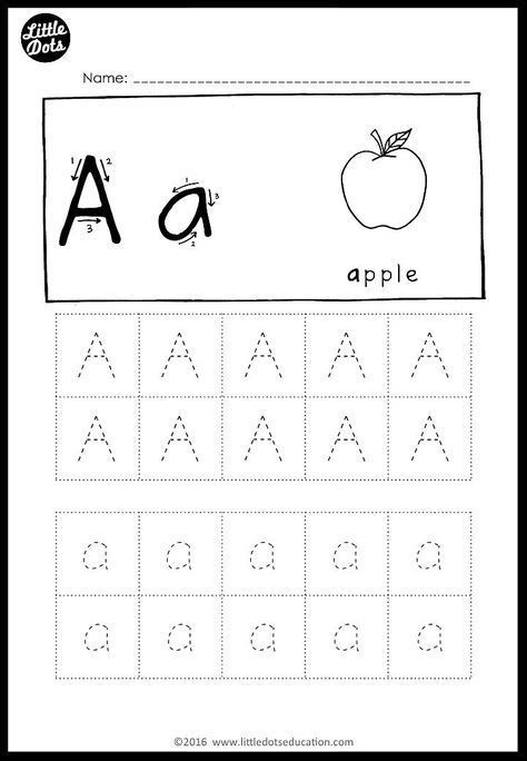 Preschool Alphabet Worksheets Az Alphabet Tracing Activities for Letter A to Z