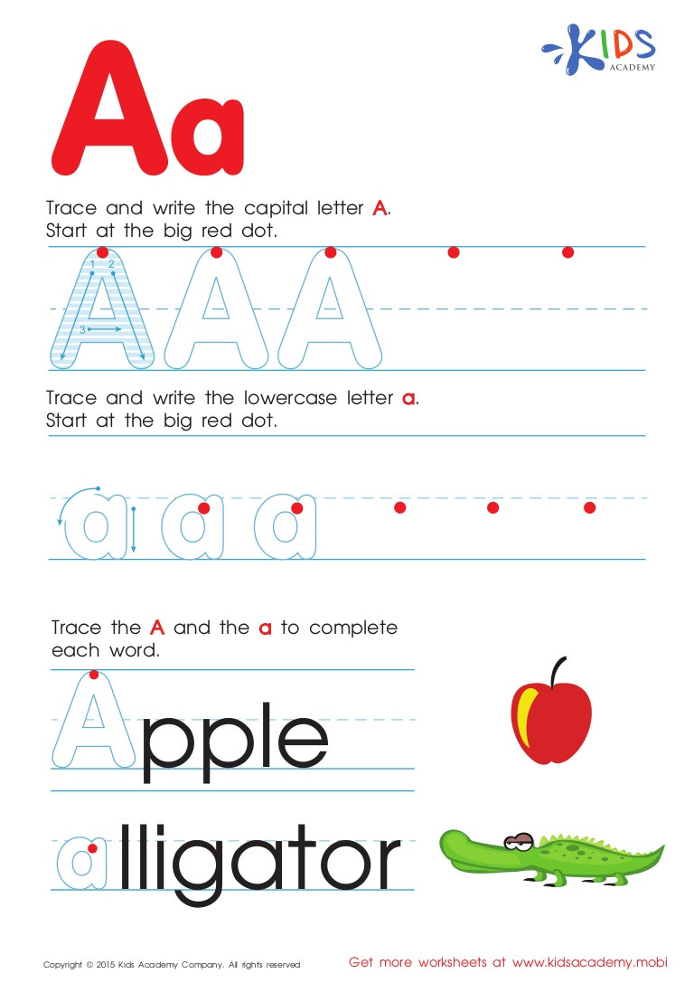 Preschool Alphabet Worksheets Az Free Alphabet Worksheets for Kids A Z
