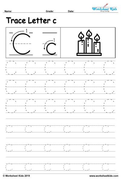 Preschool Letter C Worksheets Letter C Alphabet Tracing Worksheets Free Printable Pdf