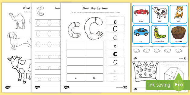 Preschool Letter C Worksheets Letter C Worksheet and Activity Pack Teacher Made