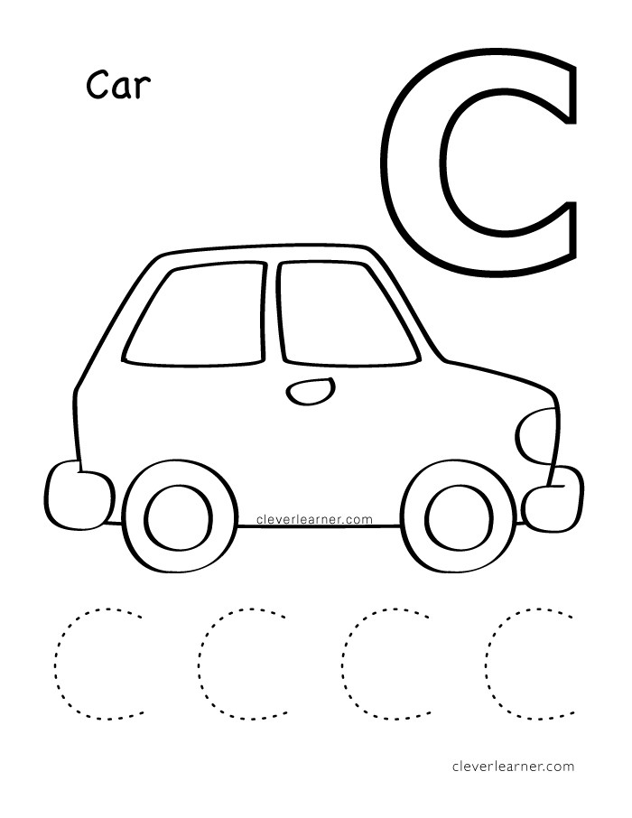 Preschool Letter C Worksheets Letter C Writing and Coloring Sheets