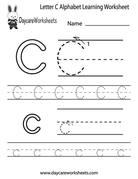 Preschool Letter C Worksheets Preschool Letter C Alphabet Learning Worksheet Printable