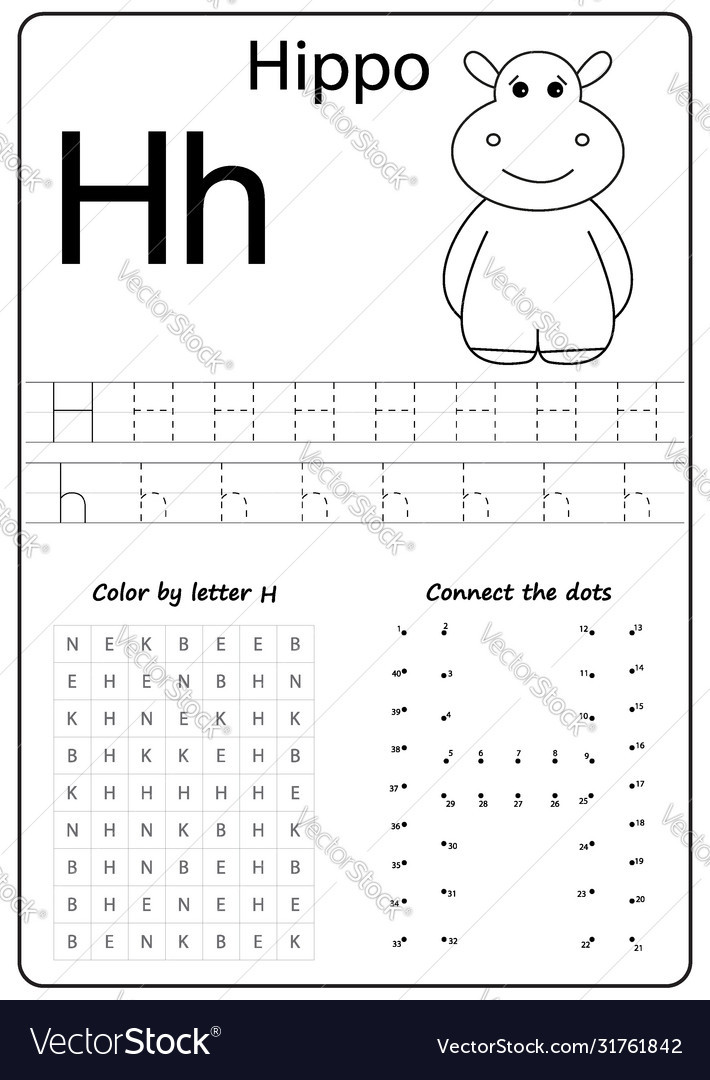 Preschool Letter H Worksheet Letter H Alphabet Letter Worksheet Task for Kids