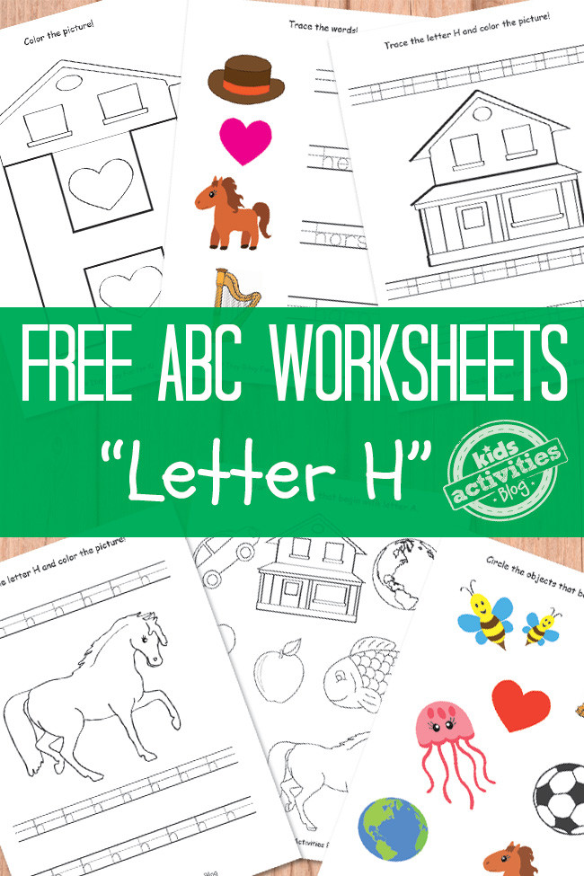 Preschool Letter H Worksheet Letter H Worksheets Free Kids Printables