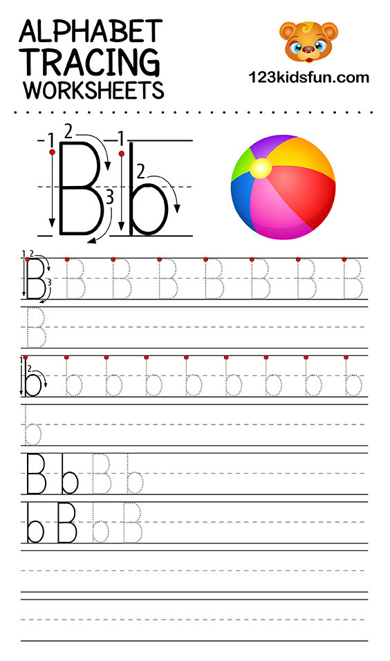 Printable Alphabet Tracing Worksheets Alphabet Tracing Worksheets A Z Free Printable for Kids