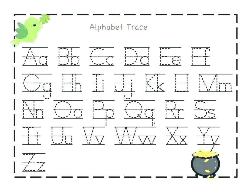 Printable Alphabet Tracing Worksheets Coloring Pages Free Printable Preschool Worksheets Tracing