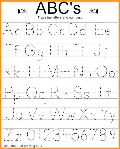 Printable Alphabet Tracing Worksheets Lowercase Tracing Worksheet Kindergarten Alphabet Worksheets