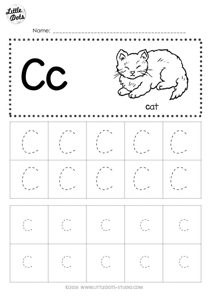 Printable Letter C Worksheets Free Letter C Tracing Worksheets