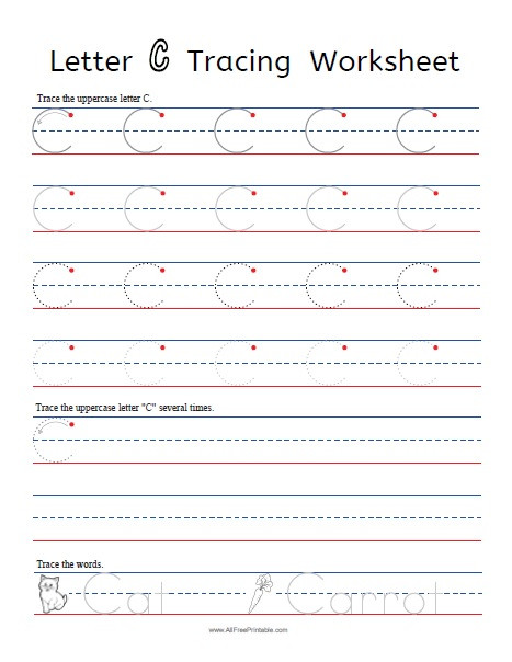 Printable Letter C Worksheets Letter C Tracing Worksheets Free Printable