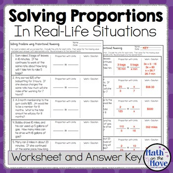 Proportional Reasoning Worksheets 7th Grade Proportions Word Problem Worksheet Freebie