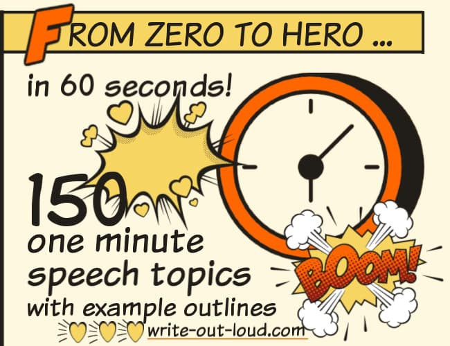 Public Speaking Worksheets High School 1 Minute Speech topics 150 Exceptionally Good Ideas