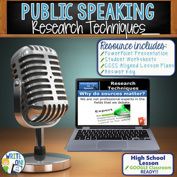 Public Speaking Worksheets High School Public Speaking Speech Debate Research Techniques Lesson Google Classroom Ready
