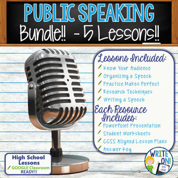 Public Speaking Worksheets High School Public Speaking Worksheets & Teaching Resources