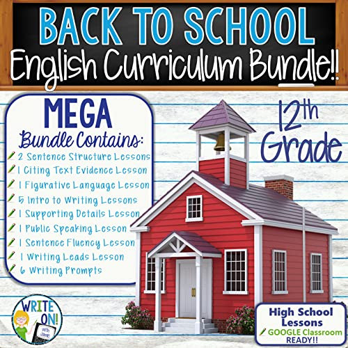 Public Speaking Worksheets High School Writing and Grammar Back to School 12th Grade English