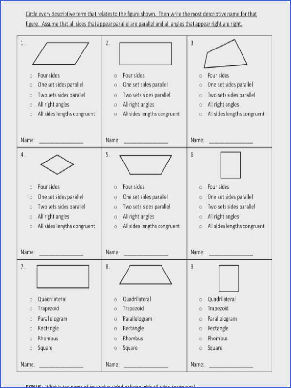 fourth grade classifying quadrilaterals worksheet 05 e page image below classifying quadrilaterals worksheet of classifying quadrilaterals worksheet