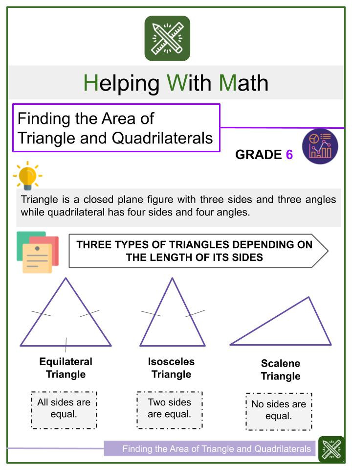 Quadrilateral Worksheets 4th Grade Measuring Angles