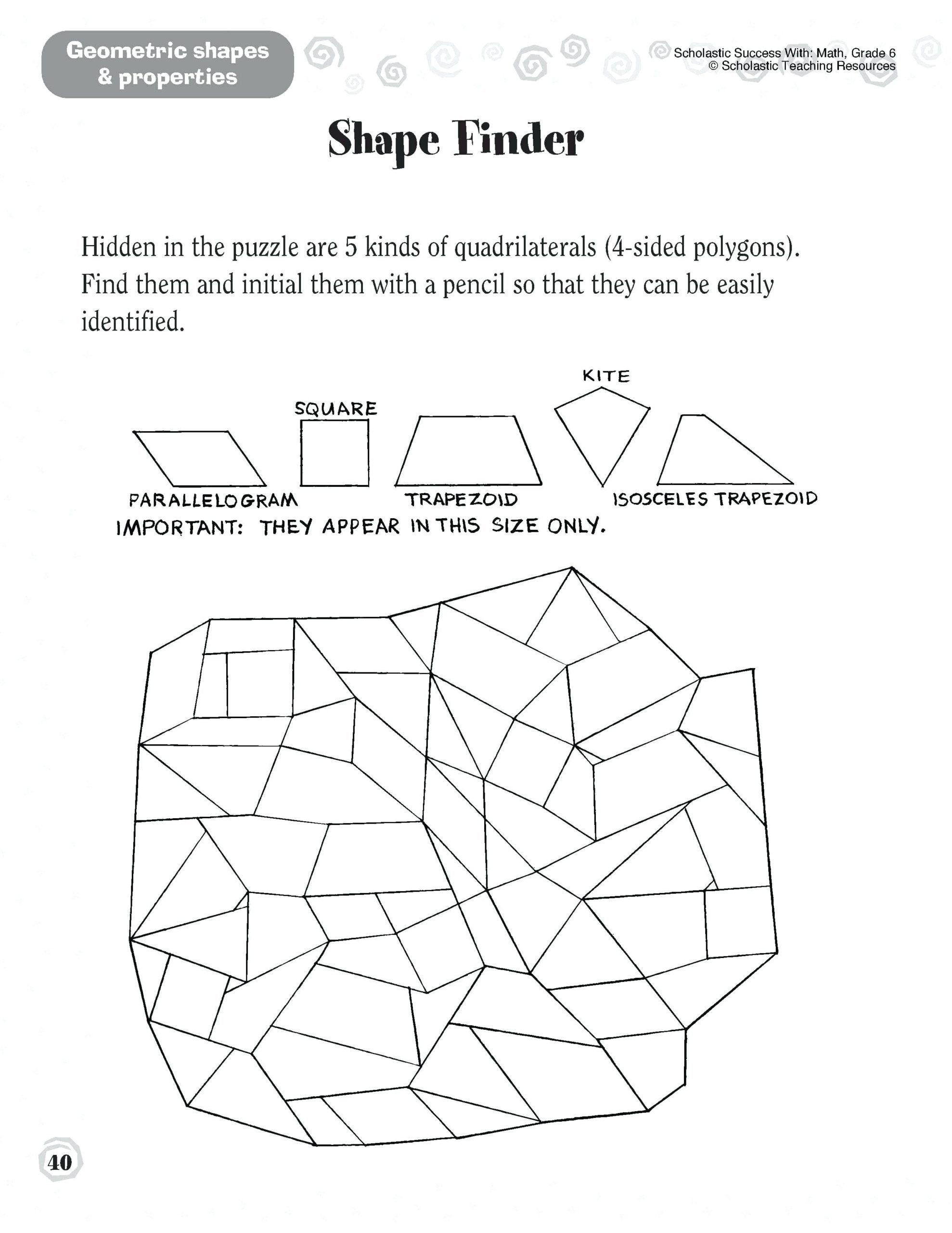 Quadrilateral Worksheets 4th Grade Quadrilaterals Worksheets 4th Grade Parallelogram Worksheets