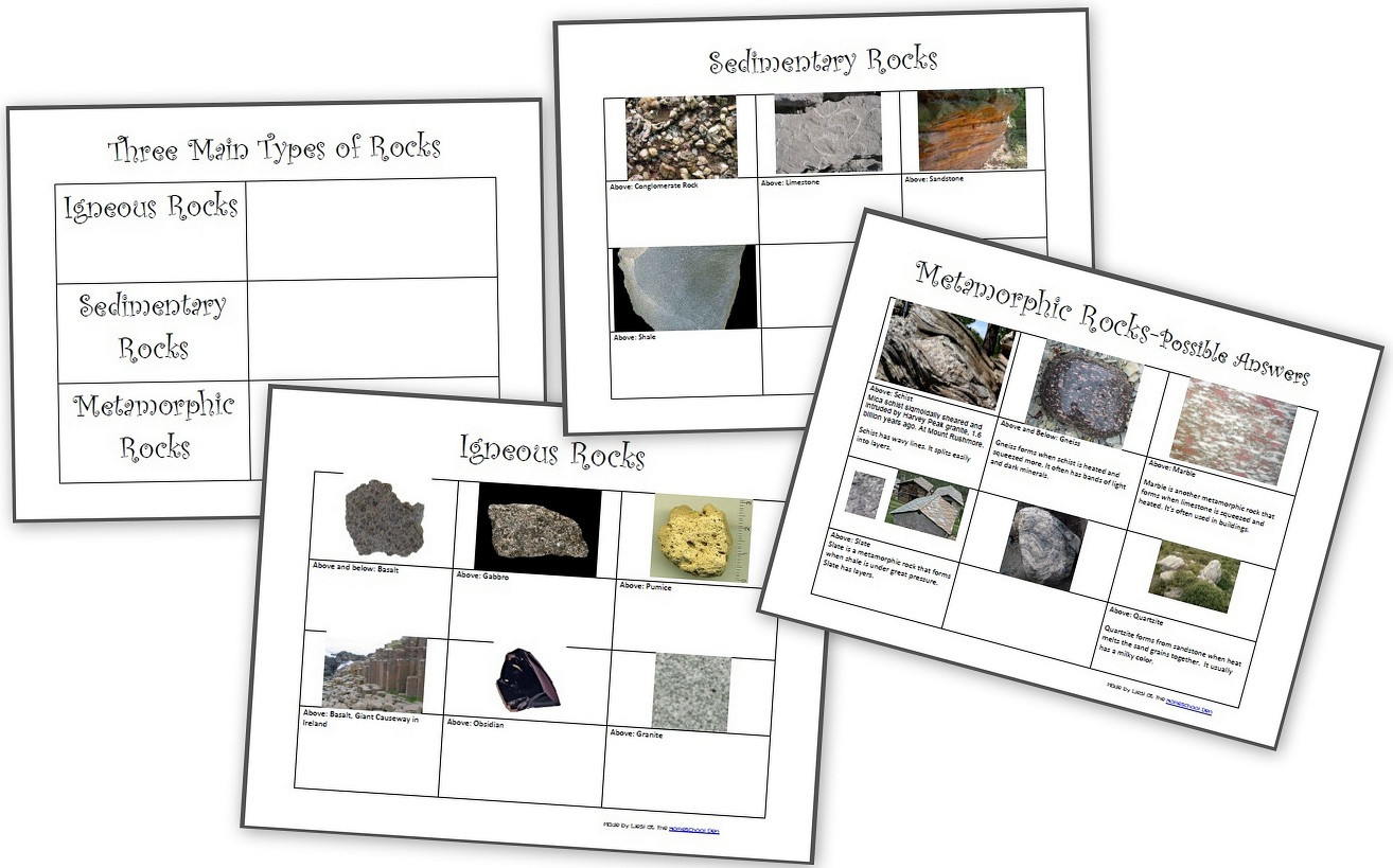 Rock Cycle Worksheet 4th Grade the Three Types Of Rocks Our Activities and A Free