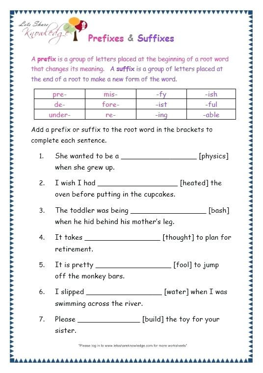 Root Word Worksheets High School Root Words and Affixes Worksheets Leter Grade English Prefix