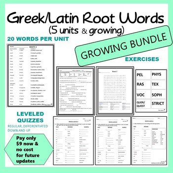 Root Words Worksheet High School Root Word Bundle for Middle School and High School 5 Weeks Of Material