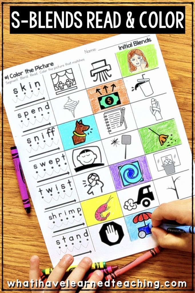 S Blend Worksheets First Grade Phonics Worksheets for Initial and Final Blends