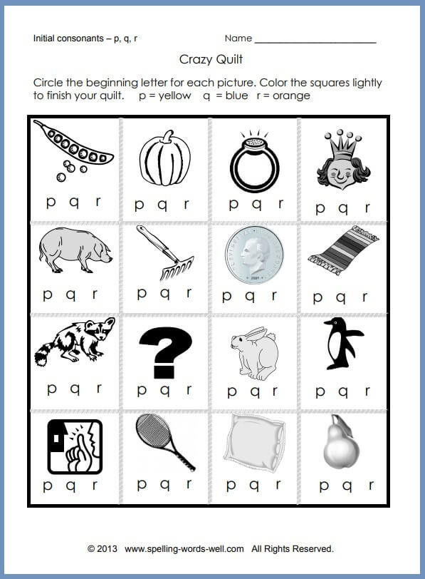 Saxon Phonics First Grade Worksheets Printable Phonics Worksheets for Learners Free Crazy Quilt