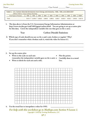 Scatter Plot Worksheet 5th Grade Free Printable Scatter Plot Worksheets