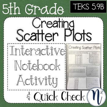 Scatter Plot Worksheet 5th Grade Freebie Creating Scatter Plots Interactive Notebook & Quick Check Teks 5 9b