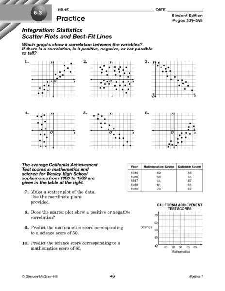 Scatter Plot Worksheet 5th Grade Scatter Plot Worksheet