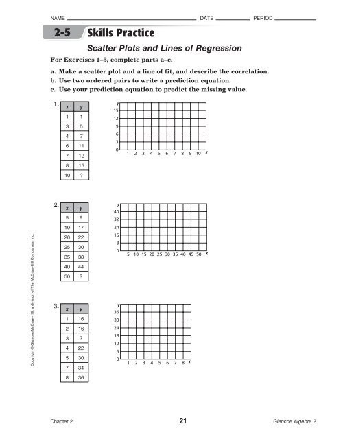 Scatter Plot Worksheet 5th Grade Scatter Plot Worksheets with Answers Worksheet Private