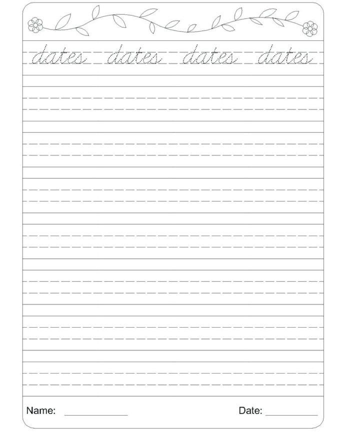 Second Grade Handwriting Worksheets 4th Grade Handwriting Worksheets Second Writing Paper