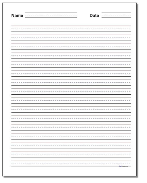 Second Grade Handwriting Worksheets Handwriting Paper