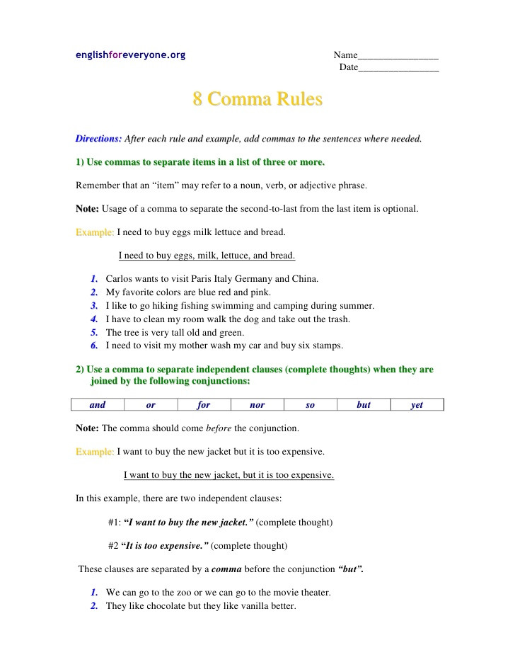 Semicolon Worksheet High School Mas Worksheet