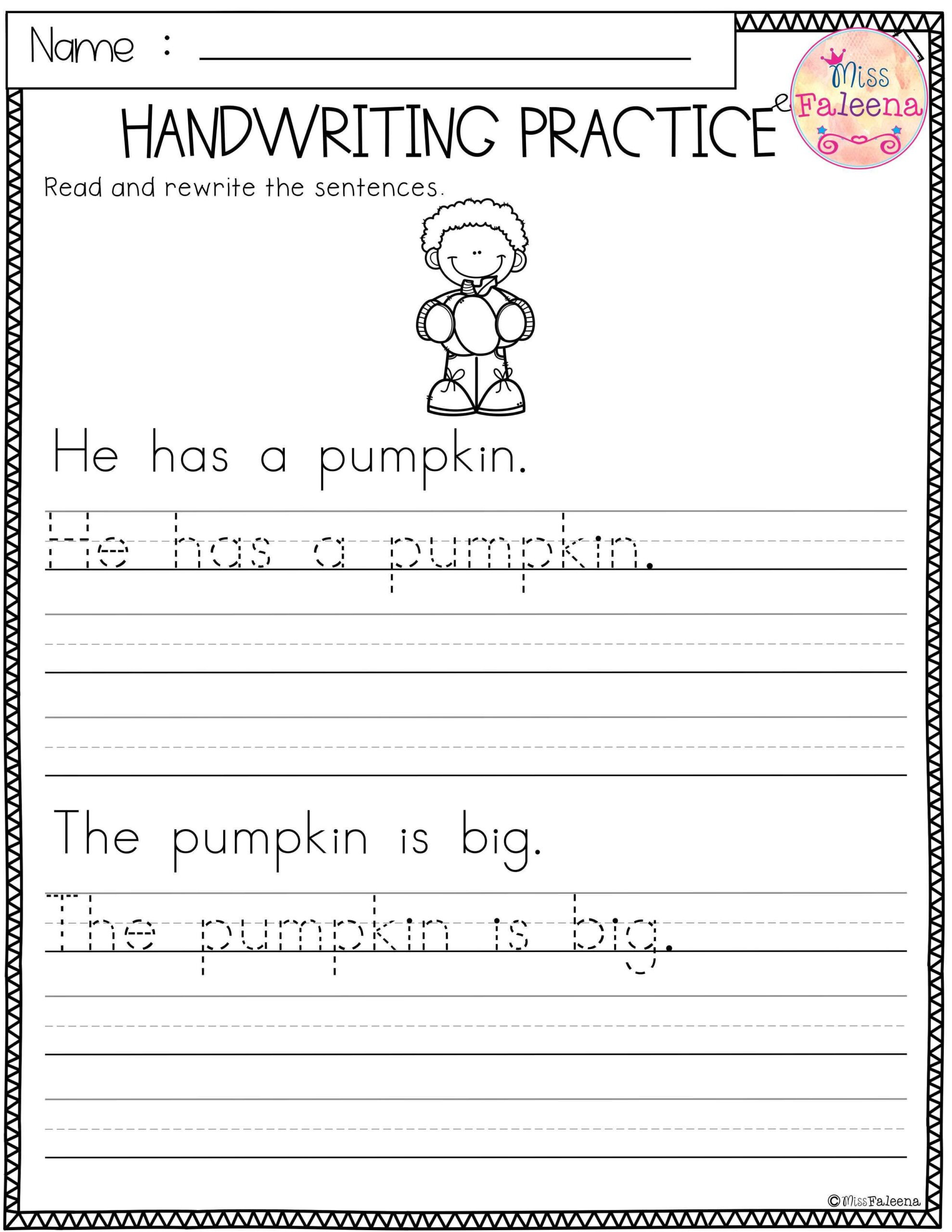 free handwriting practice worksheets sentences phrases for cursive write simple practise sentence scaled