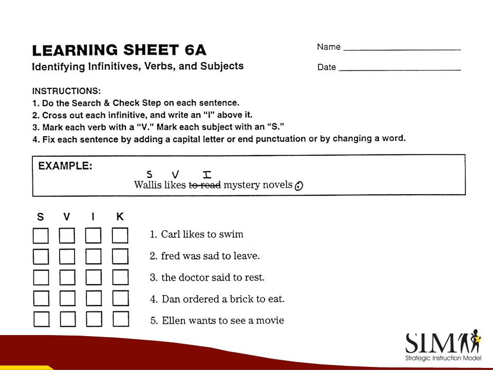 Sentence Writing Strategy Worksheets the Sentence Writing Strategy Fundamentals Of Sentence