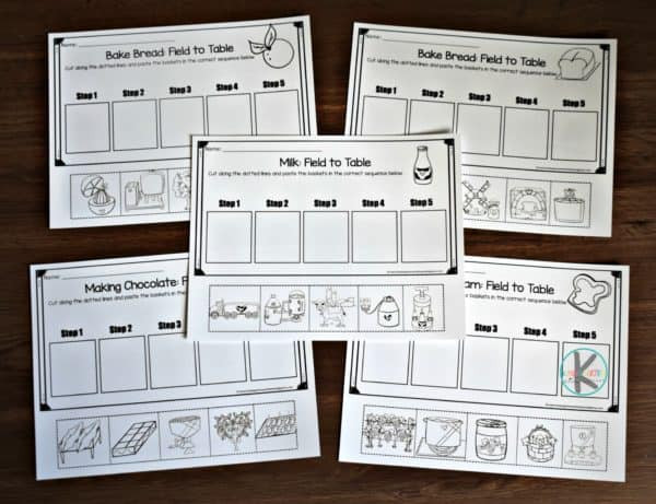 Sequence Worksheets First Grade Free Farm Sequencing Worksheets