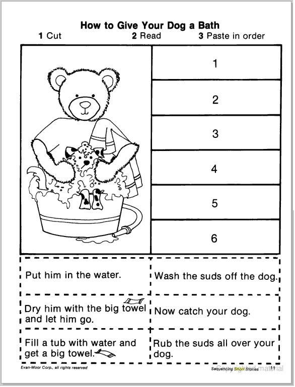 Sequence Worksheets First Grade Pin On Slp Sequencing Retelling