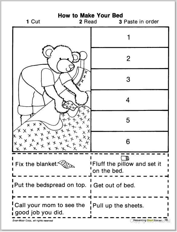 Sequence Worksheets First Grade Pin On therapy Activities