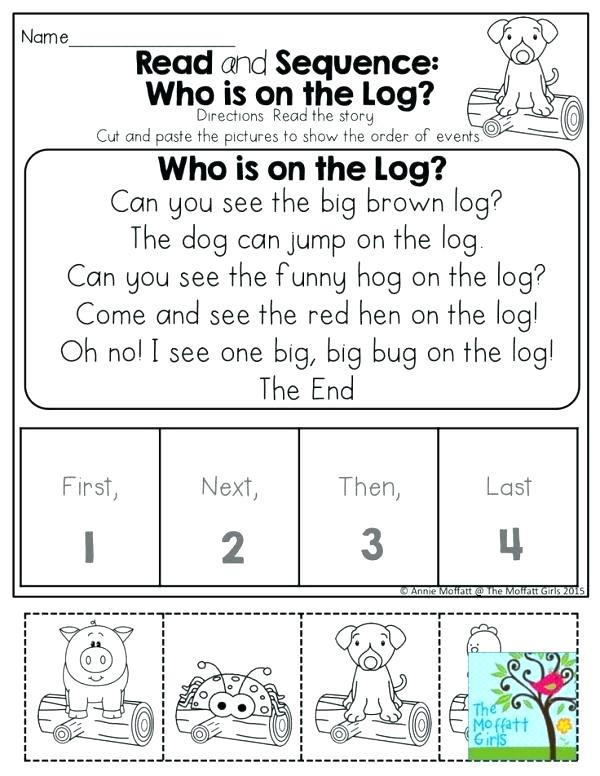 Sequence Worksheets First Grade Sequencing Activities for Kindergarten Free Printable