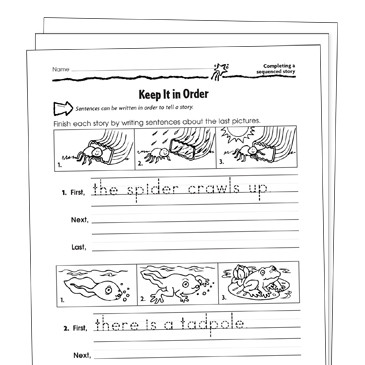 Sequence Worksheets First Grade Sequencing Grade 1 Collection