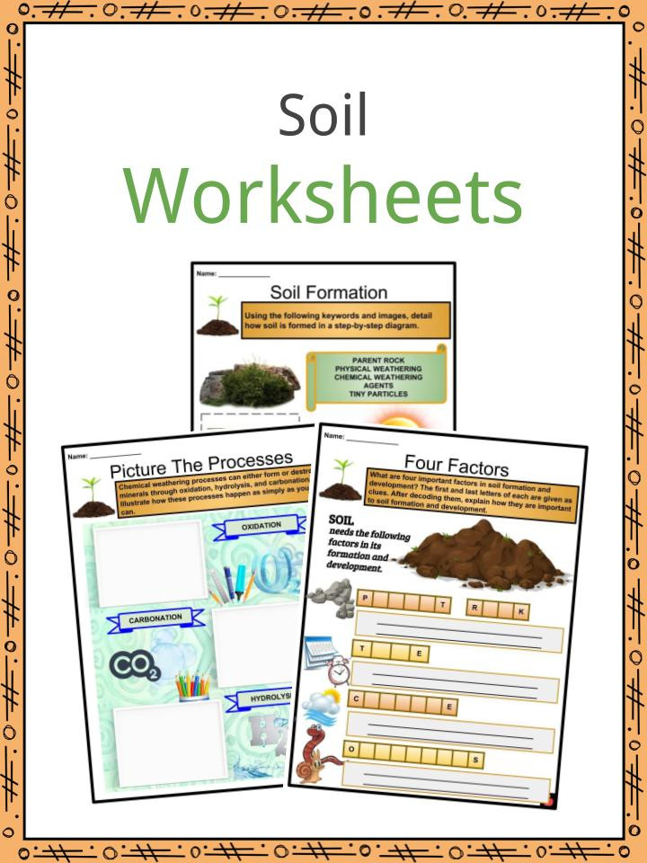Soil Worksheets for 2nd Grade soil Facts Worksheets and formation Processes for Kids