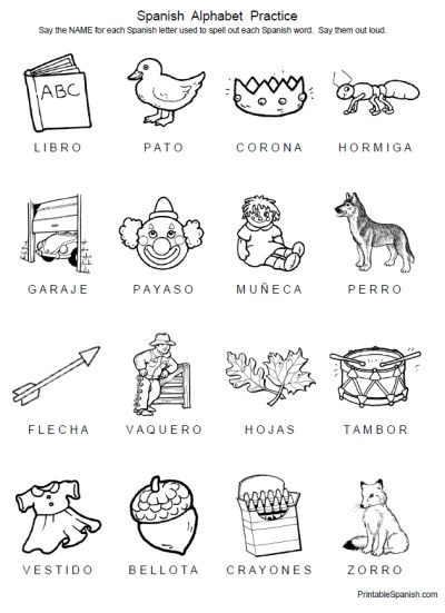 Spanish Alphabet Practice Worksheet Free 8 Page Printable Packet Spanish Alphabet Practice From
