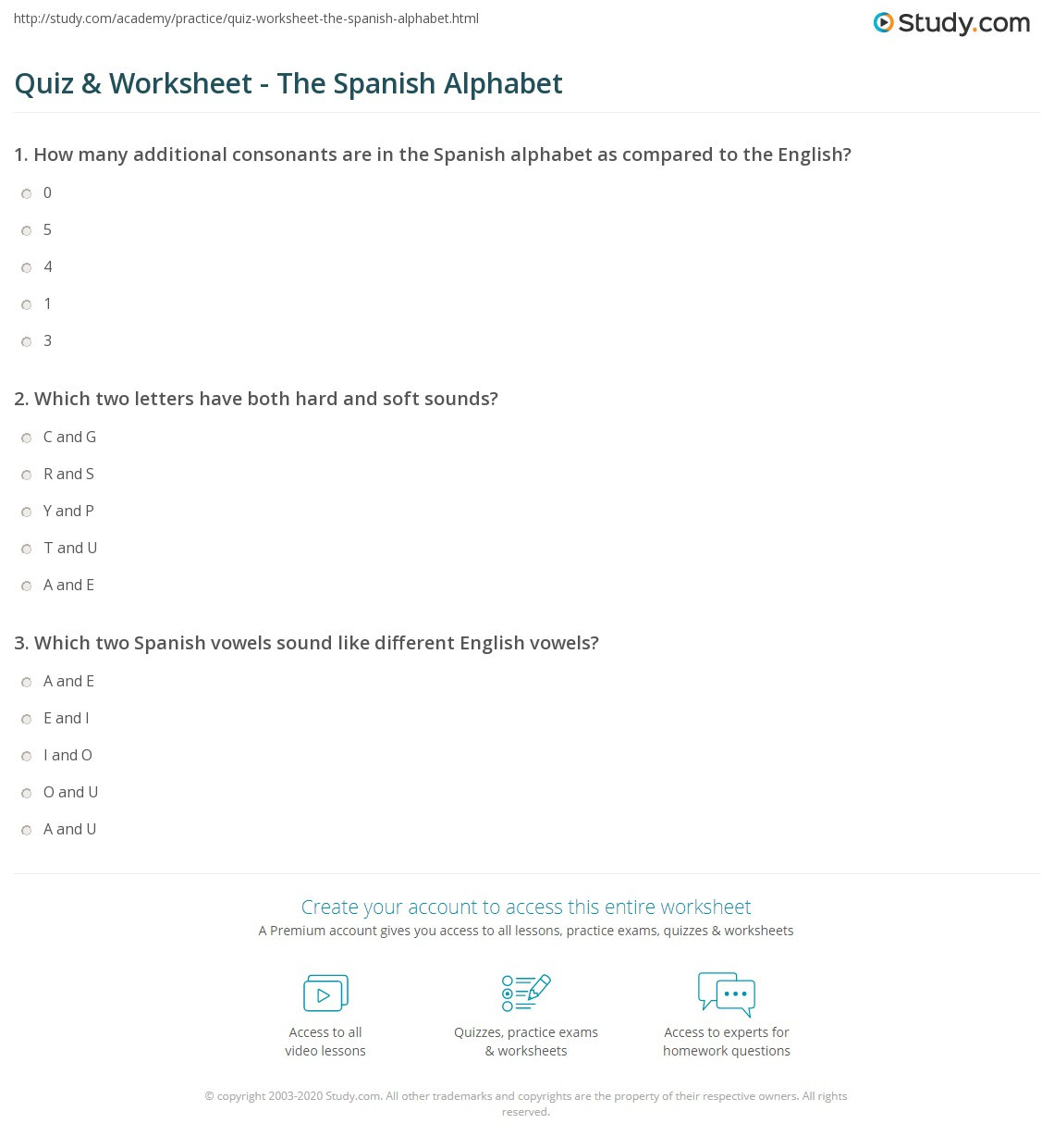 Spanish Alphabet Practice Worksheet Quiz & Worksheet the Spanish Alphabet