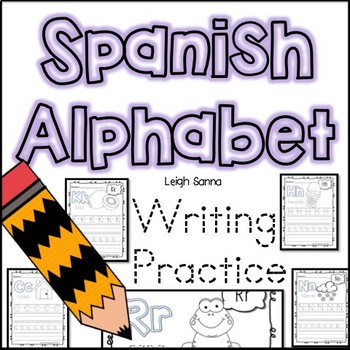 Spanish Alphabet Practice Worksheet Spanish Alphabet Handwriting Practice A Z