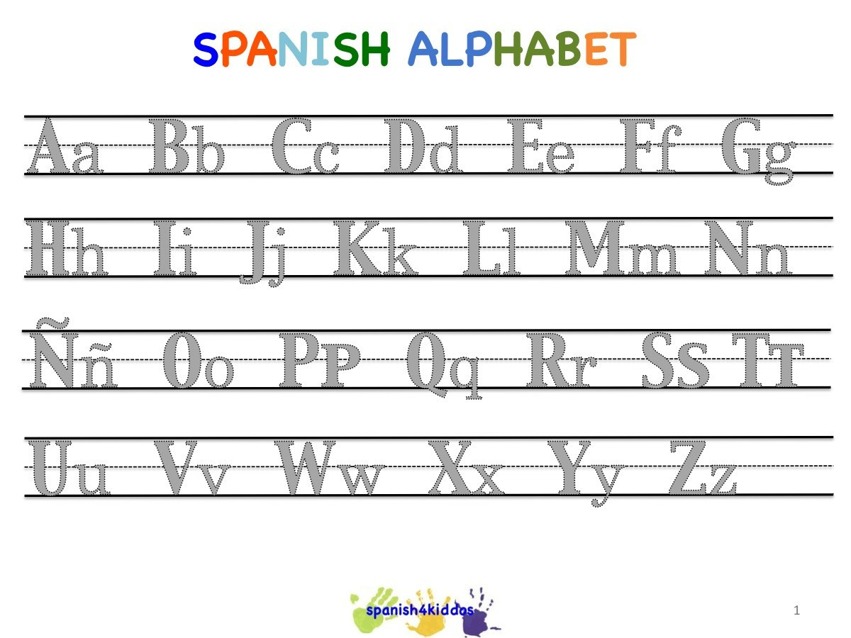 Spanish Alphabet Practice Worksheet Spanish Lesson for Kids Learning the Alphabet with Pictures