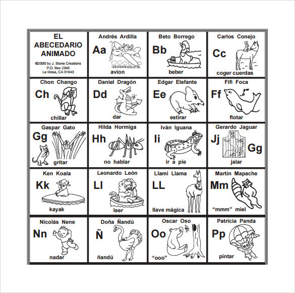 Spanish Alphabet Pronunciation Worksheet Free 7 Sample Spanish Alphabet Chart Templates In Pdf
