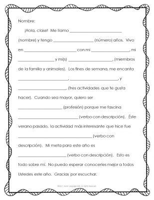 Spanish Worksheets High School 25 Spanish Writing Activities Spanish Writing Projects for