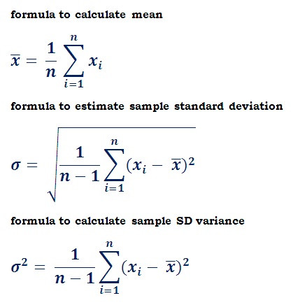 Standard Deviation Worksheet High School Probability and Statistics formulas Reference